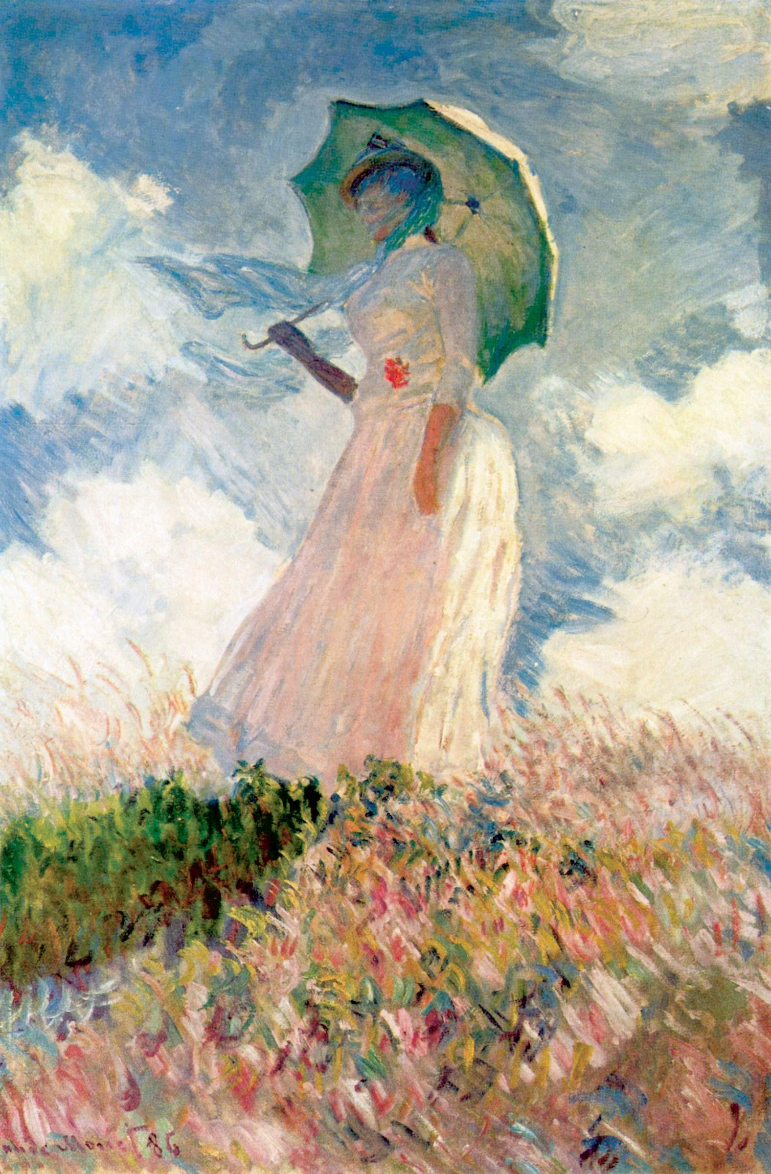 """""""Saggio di figura en plein air. Donna con il parasole girata verso sinistra"""""""